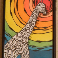 Giraffe In The African Sun iphone case Iphone by TheGawkyGiraffe