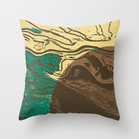 Full Moon Throw Pillow by SensualPatterns