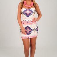 Boldly Go Strapless Dress: Multi