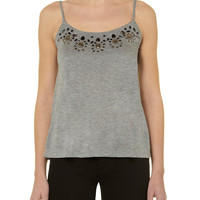 GREY JERSEY JEWEL CAMI