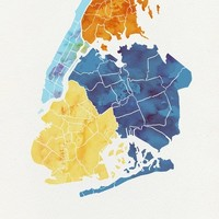 NYC Boroughs Art Print by Erin Barker Illustration | Society6