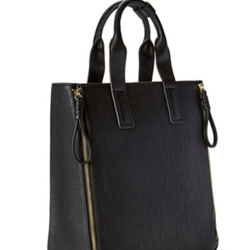 Refined Zippered Tote