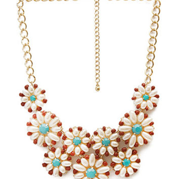 Rendered Retro Bib Necklace