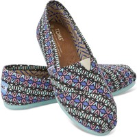 Multi Kaleidoscope Canvas Women's Classics