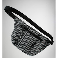 Black & White Tribal Hip Sack
