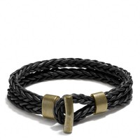 COACH + PHILIP CRANGI DOUBLE BRAID TOGGLE BRACELET