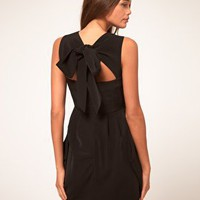 ASOS | ASOS Tulip Dress With Tie Neck at ASOS