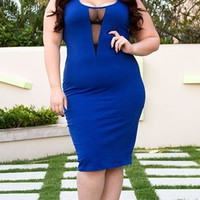 Raven Tank Dress in Royal Blue