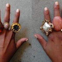 DIY: Button Statement Rings
