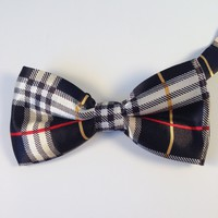 Black Striped Bow Tie