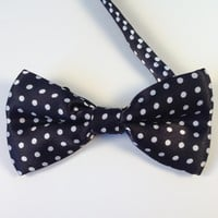 Black Polka Dot Bow Tie