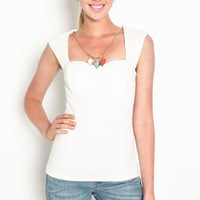 SWEETHEART TOP WITH NECKLACE