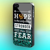 Hunger Games Hope Quotes Mint Sparkle Print on cover for Samsung Galaxy case. Select an option for device and colour