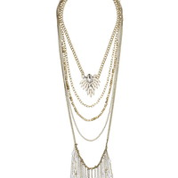 Layered chain pendant necklace