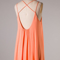 No Turning Back Dress - Apricot - Hazel & Olive