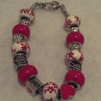 Red Love European Bracelet