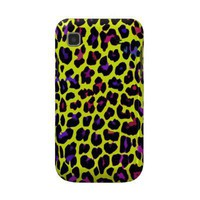 Yellow Pop Leopard Print Samsung Galaxy Cover from Zazzle.com