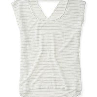 Open-Back V-Neck Tee