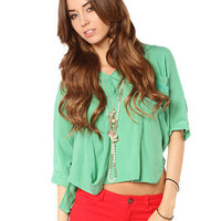 Papaya Clothing Online :: FRONT POCKET LOOSE DRESSY TOP