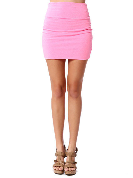 Papaya Clothing Online :: SIMPLE PINK MINI SKIRT