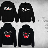 Cute Matching Soulmate Mickey & Minnie Couple Hoodie