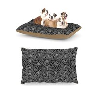"Kess InHouse Julia Grifol ""Black Flowers"" Dark Floral Dog Bed"