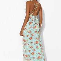 Tela Triangle-Top Chiffon Maxi Dress - Urban Outfitters