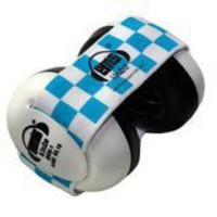 Em's 4 Bubs Baby Earmuffs (Blue & White Headband)