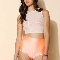 This Is A Love Song Shell Bikini Top - Urban Outfitters