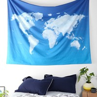 4040 Locust Cloud Map Tapestry - Urban Outfitters