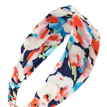 Watercolor Floral Headwrap