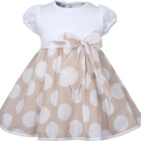 Baby Graziella Baby-girls Polka Dot Dress with Bow