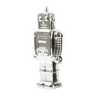 Robot Coin Bank - Silver