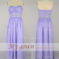 2014 prom dress,Strapless Draped Floor Length Blue Chiffon Prom Gown ,Dresses, Bridesmaid Dresses, Wedding Dress,Evening Dress,Evening Gown
