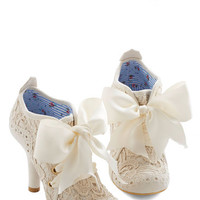 Irregular Choice French Strut You Wanted Heel in Ivory