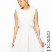 ASOS PETITE Skater Dress With Bow Front