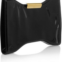 Alexander McQueen Squeeze It patent-leather clutch – 55% at THE OUTNET.COM