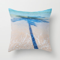 TREE IN SEA Throw Pillow by Catspaws | Society6