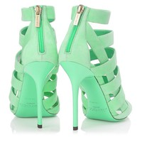 Peppermint Suede Sandals | Damsen | Spring Summer 2014 | JIMMY CHOO Sandals