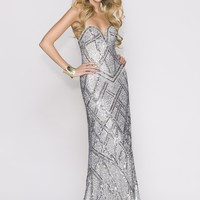 Scala 47706 Strapless Sweetheart Gown