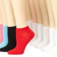 K. Bell Socks Women`s 12-Pack No Show Sporty Casual Socks
