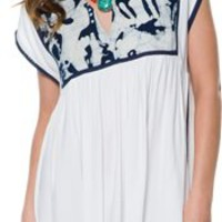 SOMEDAYS LOVIN' COOL WATER IKAT DRESS