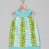 Turquoise Feather Yoke Dress - Toddler & Girls | something special every day