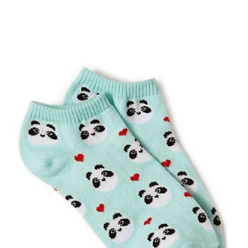 Happy Panda Ankle Socks