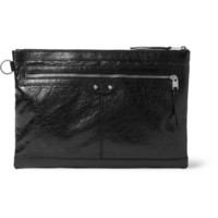 Balenciaga - Large Creased-Leather Pouch | MR PORTER