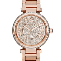Michael Kors Women's Skylar Rose Gold-Tone Stainless Steel Bracelet Watch 42mm MK5868