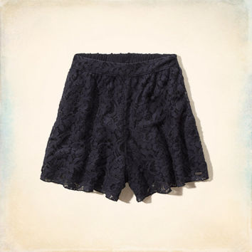 Hollister High Rise Lace Culotte Shorts