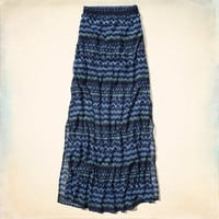 Hollister Printed Maxi Skirt