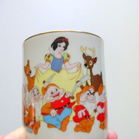 Vintage Disney Snow White and The Seven Dwarfs Coffee Mug 1980s