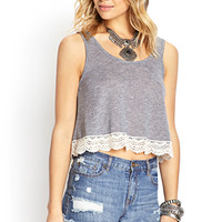 Soft Stripe Crochet Tank